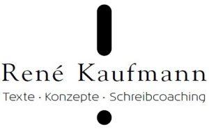 Logo René Kaufmann Texte Konzepte Schreibcoaching