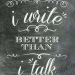 Bild Wandtafel besser schreiben als reden